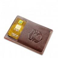 Carteira de couro compacta Party Wallet Nordweg NW009 cartão de crédito italiano café
