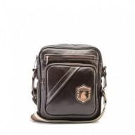 Bolsa masculina de couro compacta Nordweg NW057 italiano café