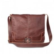 Bolsa carteiro masculina couro legítimo NW005 Nordweg italiano café