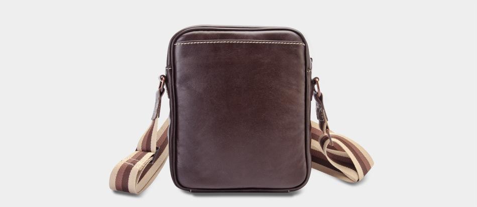 Bolsa masculina de couro compacta Nordweg NW057 atrás