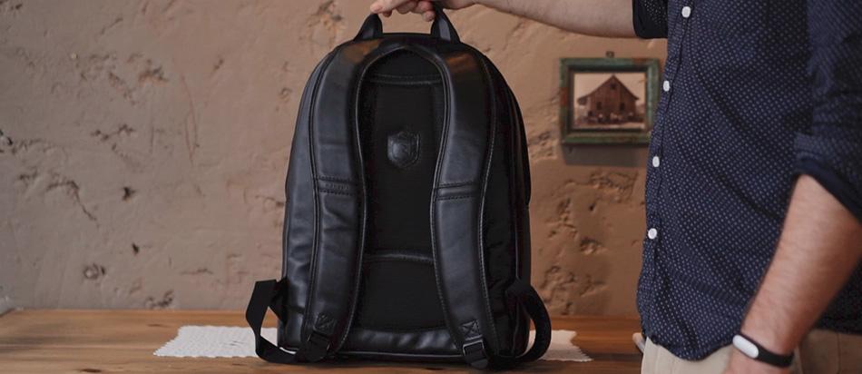 Mochila de couro Black Edition NW083