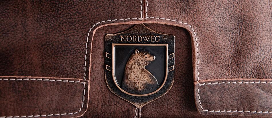 Bolsa masculina de couro para notebook estilo carteiro brasão urso