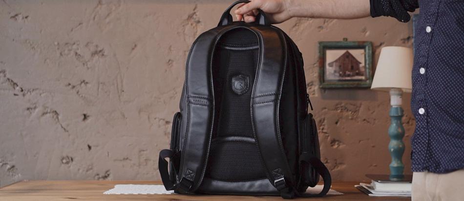 Mochila de couro Black Edition NW082