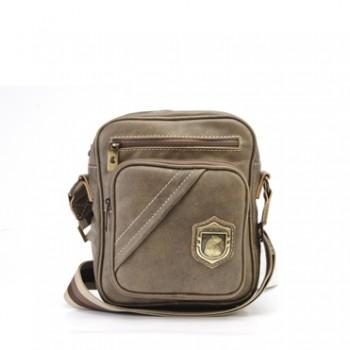 Bolsa masculina de couro compacta Nordweg NW057 vintage