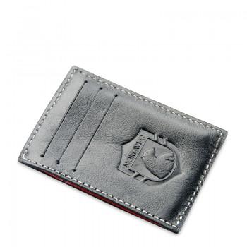 Carteira de couro compacta Party Wallet Nordweg NW009 cartão de crédito italiano preto